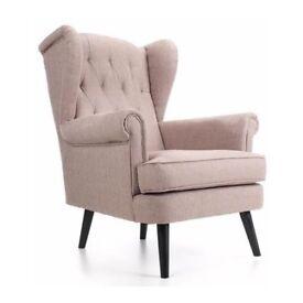 Monroe Armchair, Seashell Grey colour 2 Left in stock.