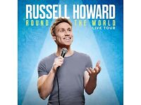 2x Tickets Russell Howard Tickets for Cardiff Motorpoint Arena - 14 March 2017 - Aisle Seat