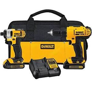 dewall kit 1 drill 1 impact 3 battery charger and grinder