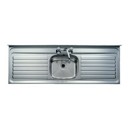 kitchen sink single bowl stainless steel sink square front double drainer 2 - Double Drainer Kitchen Sink