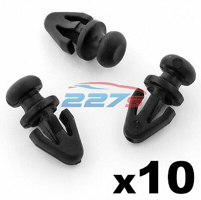 10x Ford Mondeo Door Seal Clips for Sill / Lower Rubber Weatherstrip / Gasket