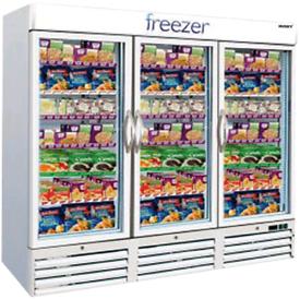 Husky 3 doors commercial frozen foods display freezer fully working
