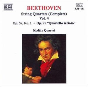 Beethoven: String Quartets (Complete), Vol. 4 (CD, May-1998, Naxos) New/ Sealed