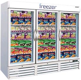 Husky 3 doors commercial display freezer fully working
