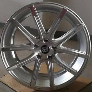 NEW!! 20 CONCAVE! HYPER SILVER -- STAGGERED -- WHEELS AND NEW TIRES!!  mdx cts sts edge escape BMW MERCEDES - 1218