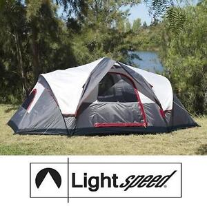 USED* LIGHTSPEED OUTDOOR AMPLE TENT - 121749097 - OUTDOORS 6-PERSON INSTANT TENT - GREY