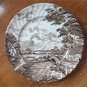"""5 Ridgway """" Country Days """" plates"""