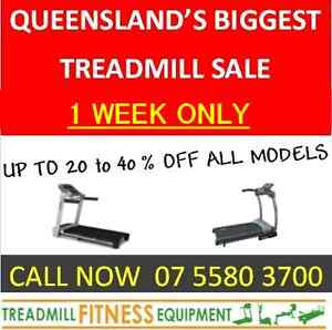 ** HUGE TREADMILL SALE UPTO 40 % OFF **1 WEEK ONLY** Helensvale Gold Coast North Preview