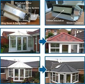 Tiled Conservatory Roofs from £2750 supply and fit