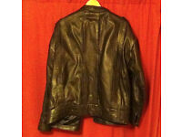 High Quality Men's Leather Jacket Dark Chocolate Brown Never Worn Cost £120 New