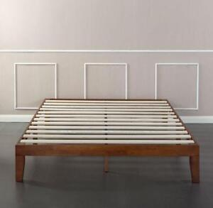 "Zinus Solid Wood 12"" Platform Bed cherry (KING SIZE)"