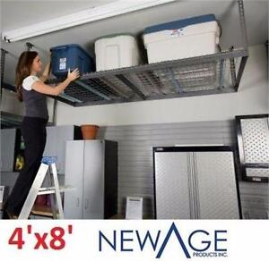 NEW NEWAGE CEILING STORAGE RACK 4'x8' 600LB CAPACITY GREY Ceiling Storage Rack MOUNT HOME IMPROVEMENT ORGANIZER 96890858