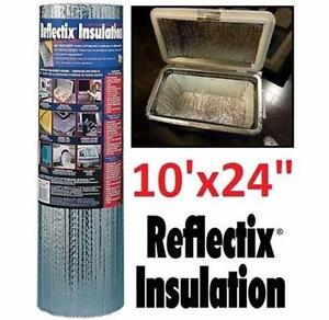 """NEW REFLECTIX FOIL INSULATION BUBBLE ROLL 10'x24"""" FOR SMALL PROJECTS 82591198"""