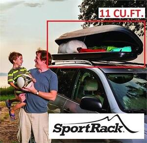 NEW* SPORTRACK 11 CU.FT. CARGO BOX HORIZON - BLACK - SIDE OPENING ACCESS UTILITY SUV STORAGE BOXES ACCESSORIES 80756814