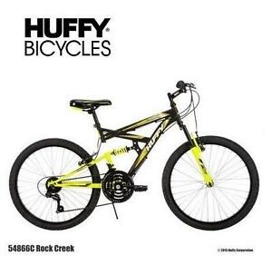 NEW* HUFFY ROCK CREEK 24 INCH BIKE - 114523840 - BOYS MOUNTAIN BICYCLE