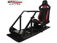 Omega Racing Simulator gears foot pedals steering wheel for ps4