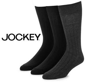 NEW JOCKEY 3-PACK DRESS CREW SOCKS - 115283354 - MEN'S