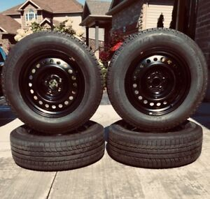 """Michelin  X-Ice 235/65R17 with 17"""" Steel Rims(Winter Snow Tires)"""