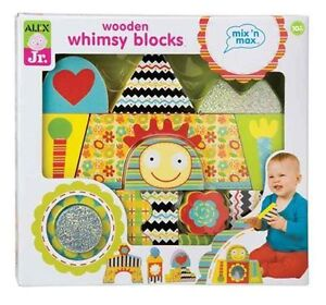 ALEX Toys ALEX Jr. Wooden Whimsy Blocks Baby Wooden Developmenta
