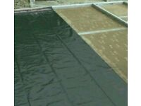 Plastic sheet damp proof shed roof gardening