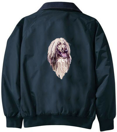 AFGHAN HOUND embroidered Challenger jacket ANY COLOR B