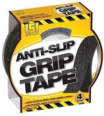 """Anti-Slip Tape,60.0 ft L,Black,12/"""" W GRAN5103"""