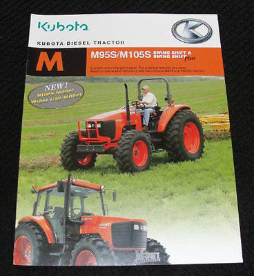 Kubota M95s M105s M 95 105s Tractor Loader Backhoe Catalog Brochure Very Nice