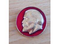 Soviet-era Lenin pin badge, c. 1974