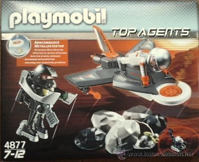 Figura Playmobil: Top Agents: Detector de metal separable, con dos figuras