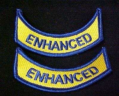 Enhanced Ems Emt Medical Rocker Navy Gold Emblem Arm Patch Set Of 2 Embroidered