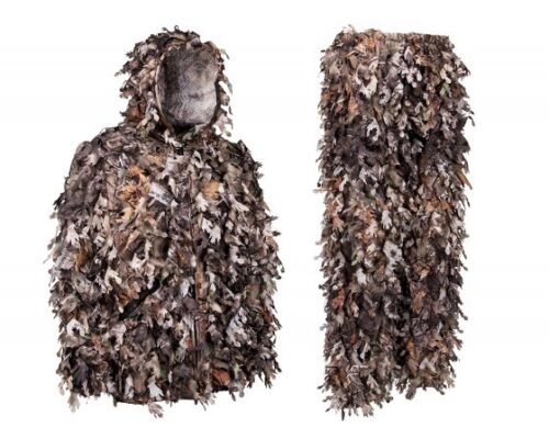 Brown Leafy Camouflage Hunting Ghillie Suit 5 Size Choices Hiding Ambush Natural