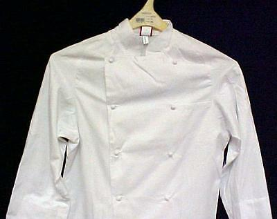 Dickies Chef Jacket 34 White Grand Master Coat New CW070101 Egyptian Cotton