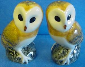 QUAIL-CERAMIC-BARN-OWL-SALT-PEPPER-POTS-CRUET-SET