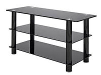 TV stand - Slimline Black Glass - upto 40 inch - Great Condition- £10