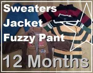 BAG of WARM Clothing Lot --- BOYS (12 Months) --- $6 FOR ALL !!