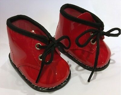 """Red Patent Docs Rain Boots for 18"""" American Girl or Baby Doll Shoes Clothes"""