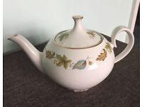 RIDGWAY 'White Mist' Vintage English teapot