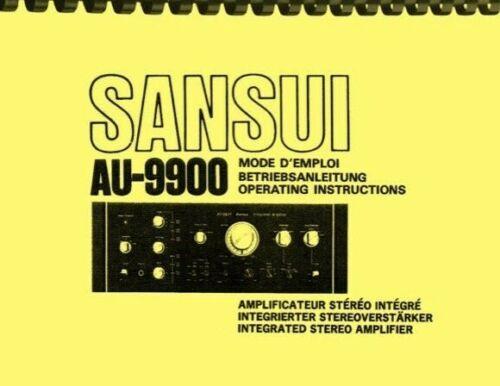 Sansui AU9900 Stereo Amplifier OWNER