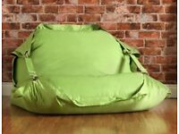 BAZAAR BAG ® Flex - Giant Bean Bag Chair - Indoor Outdoor Bean Bags with Straps (Lime)