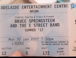 2 x Bruce Springsteen Tickets Adelaide CBD Adelaide City Preview