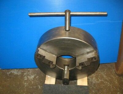 16 3 Jaw Lathe Chuck Reversible Top Jaws 5-14 Thru Hole Plain Back Vgc