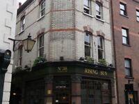 Rising Sun, 38 Cloth Fair, Smithfield London. Bar Staff Required