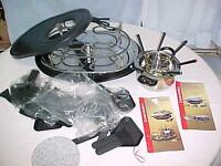 New Unused Home Presence Party Grill Cooking Stone Fondue Set