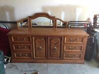 DRESSER WITH MATCHING END TABLE