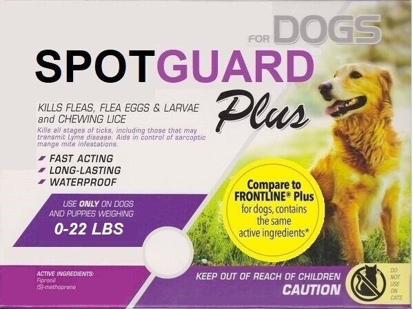 6 Doses Generic Frontline Plus for Small Dogs 0-22 lbs Flea Tick 6 Month Supply