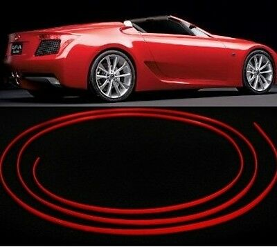 Red Dash Gauges Stereo Speakers Console Trim Micro Molding 4mm X 3m