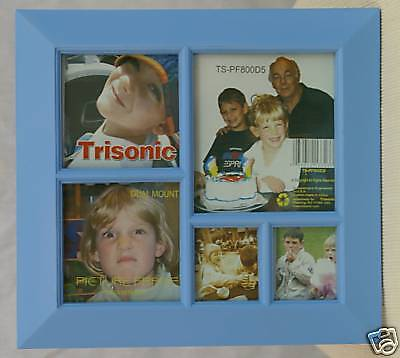 """Picture Frame  9"""" x 9 1/2""""~5 Slots~Made of Wood"""