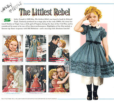 """SHIRLEY TEMPLE  """"The littlest rebel"""" collection, Postage Stamps-2 SHEETS & S/S"""