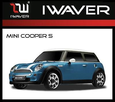 Iwaver 1:28 02M Mini Cooper S Azul On-Road Coche Eléctrico Brushed 2WD...