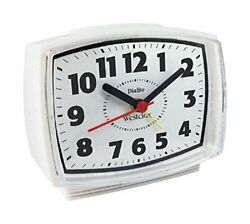 Westclox 22192 Electric Alarm Clock with Constant Lighted Dial, White